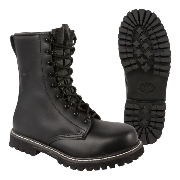 Paratrooper Boots TSR with Steel Toe black