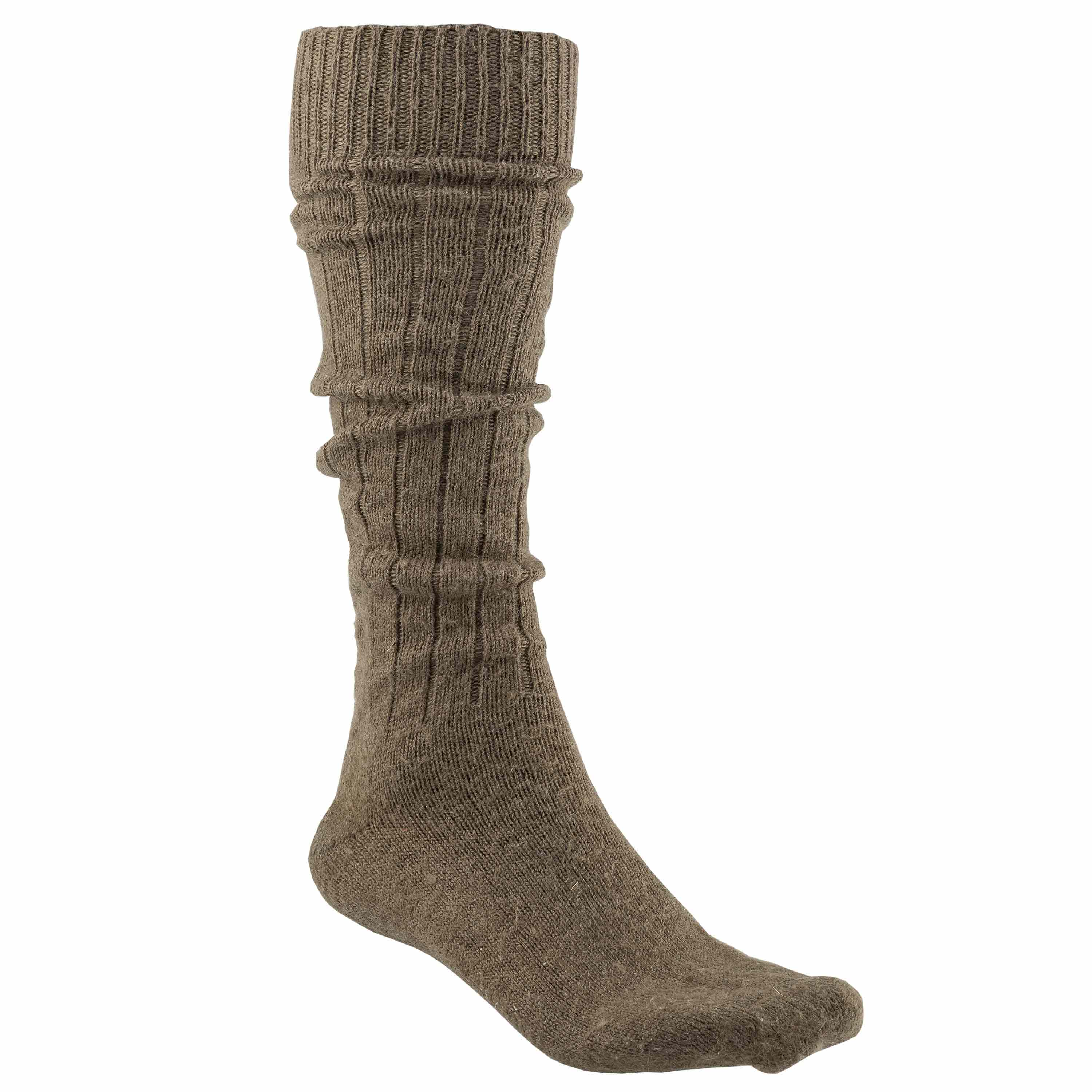 Used BW Long Boot Socks stone gray olive