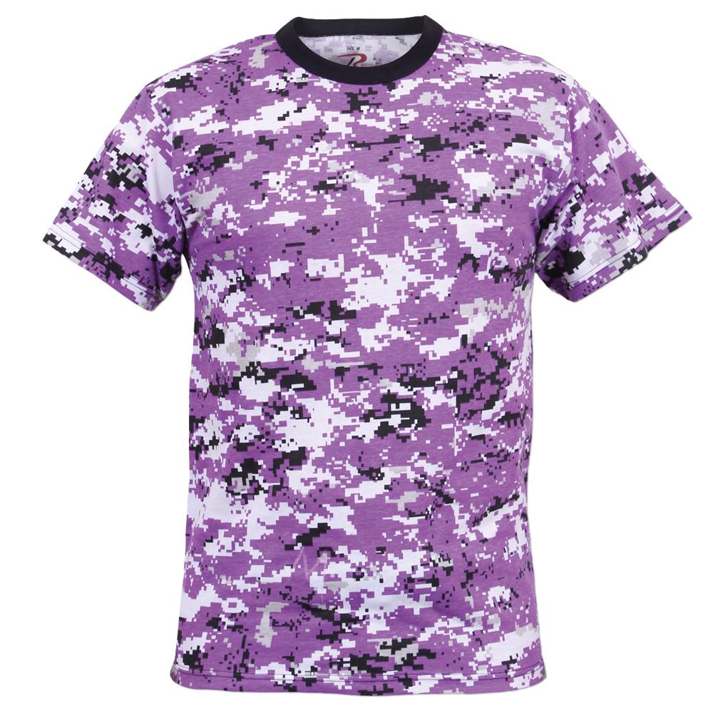 T-Shirt Rothco Digital Camo ultra violett