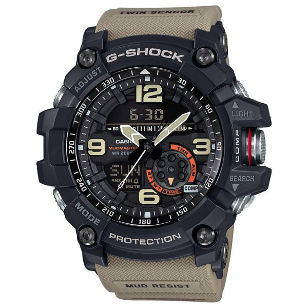 Casio Watch G-Shock Mudmaster GG-1000-1A5ER black/tan