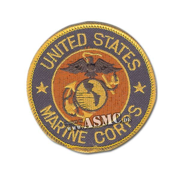 USMC Patch Round blue/gold/red