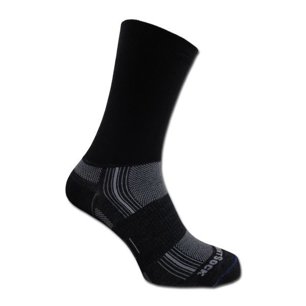 Sock Wrightsock Silver Stride Double Layer black