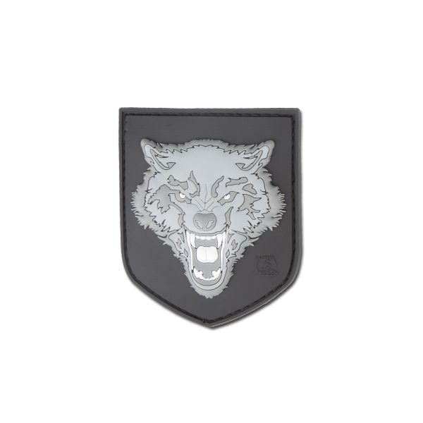 3D-Patch Wolf small gray