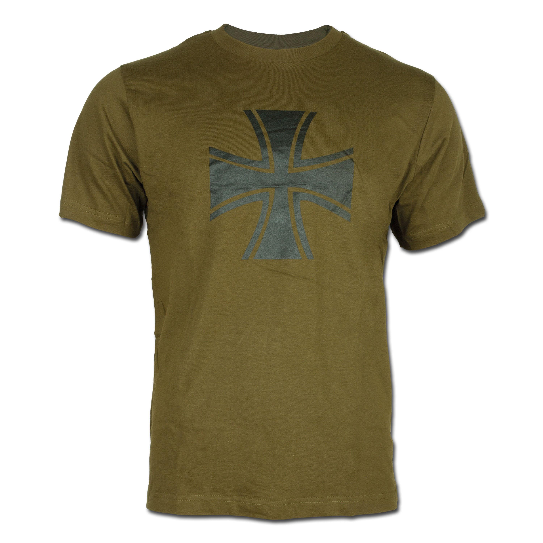 T-Shirt Iron Cross olive green