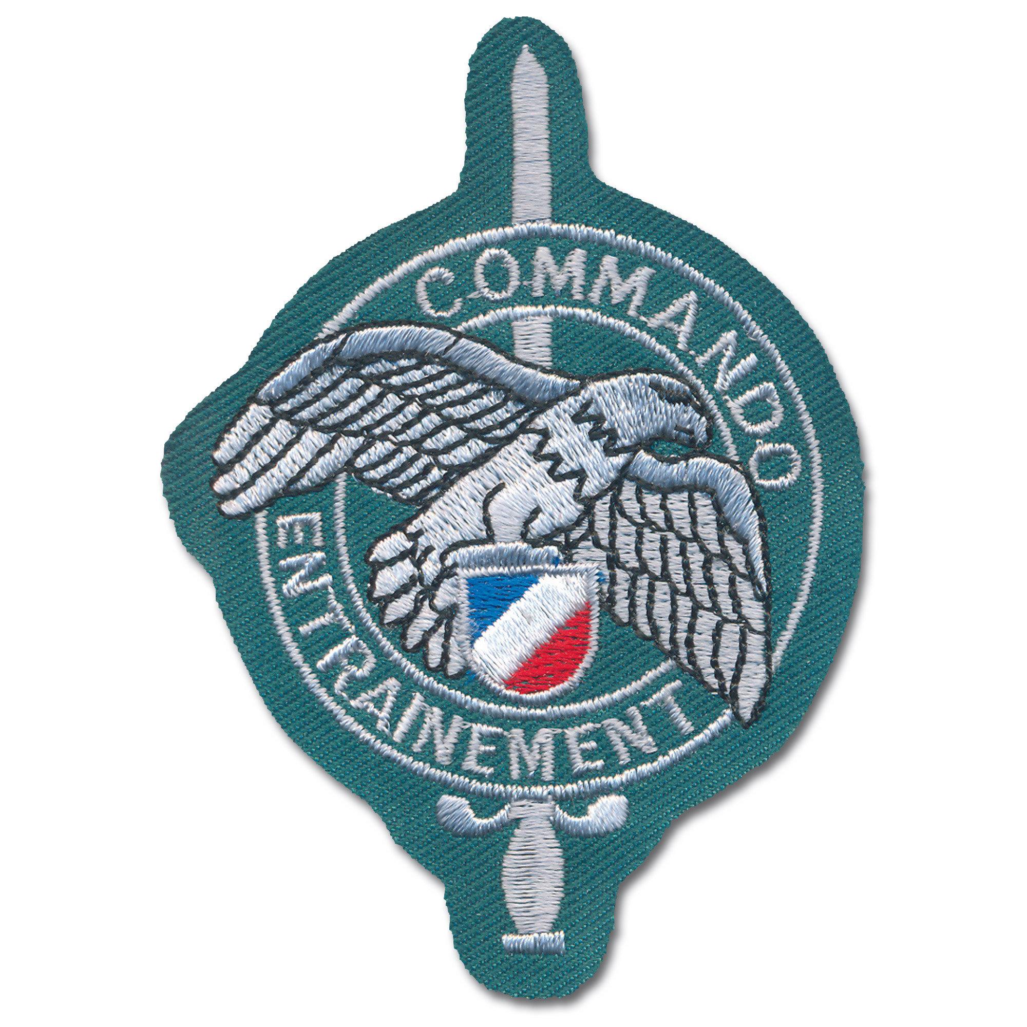 French Insignia Commando Entrainement green