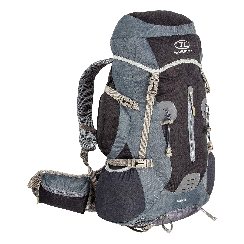 Highlander Backpack Rocky 35+5L 40L black/gray