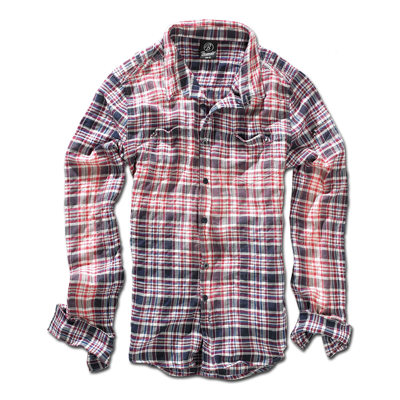 Brandit Parkland Wire Shirt red/blue checked