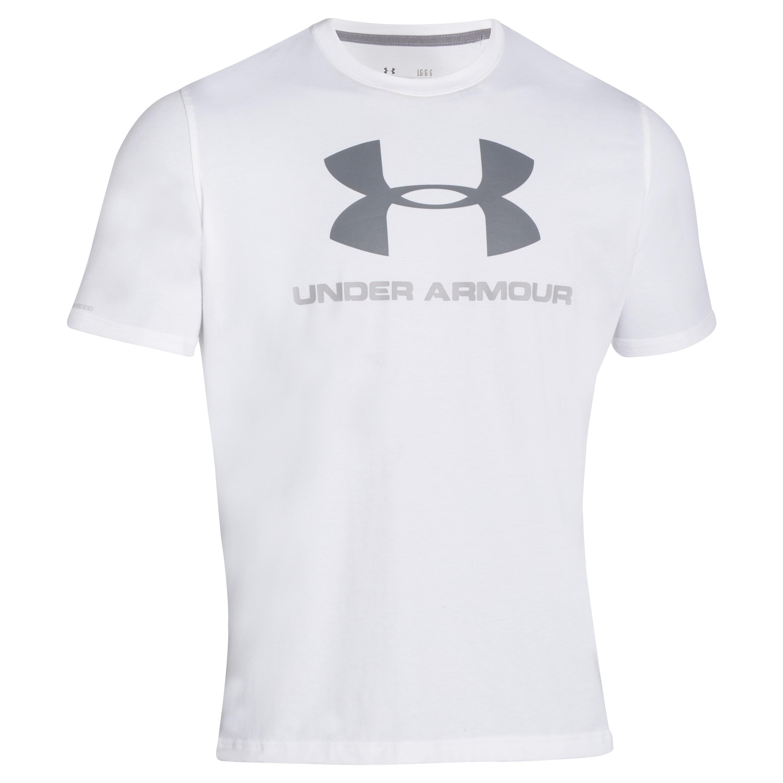 Under Armour Shirt Sportstyle Logo white/gray