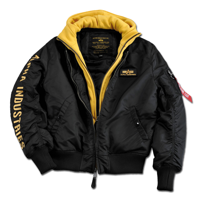 Jacket Alpha MA-1 D-Tec SE black-yellow