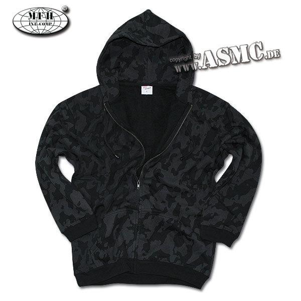 Zip-Hood Sweatshirt MFH nightcamo