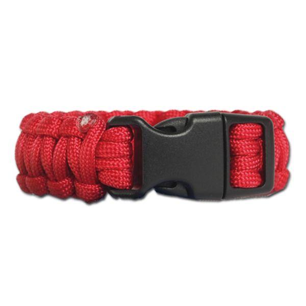 Survival Paracord Bracelet wide red