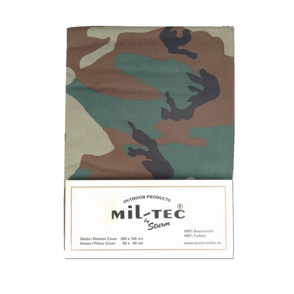 Bed Cover and Pillow Case Mil-Tec woodland