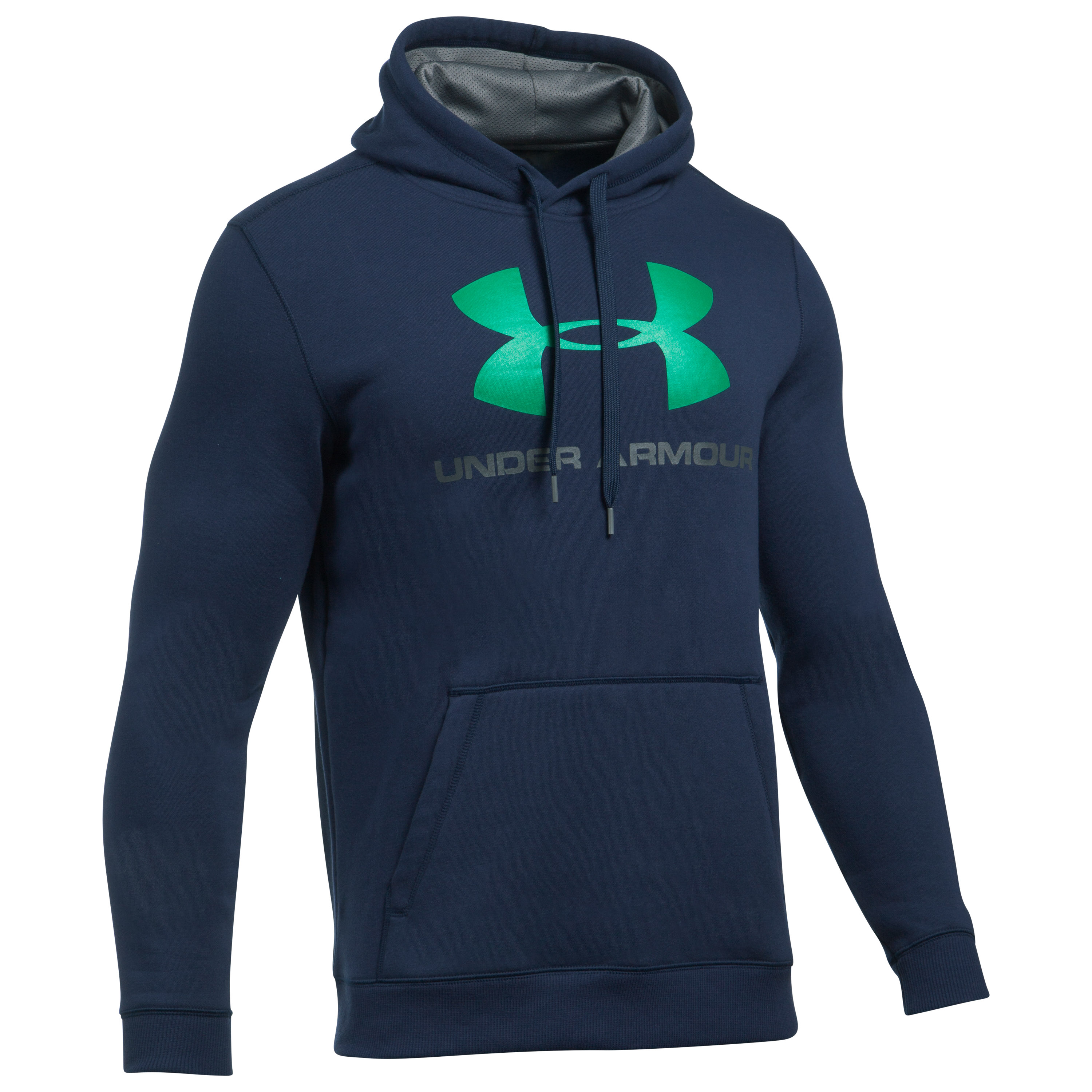 Under Armour Hoodie Rival Fitted Graphic blue/green