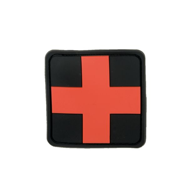 3D-Patch Red Cross Medic black-red