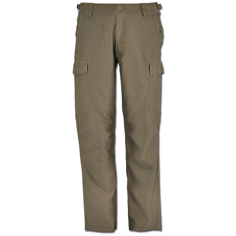 Vintage Industries BDU Heavy Satin Pants, dark khaki