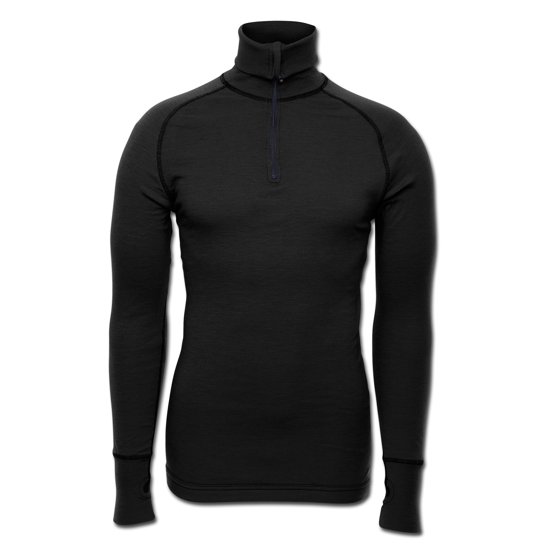 Brynje Zip-Poloshirt Arctic black