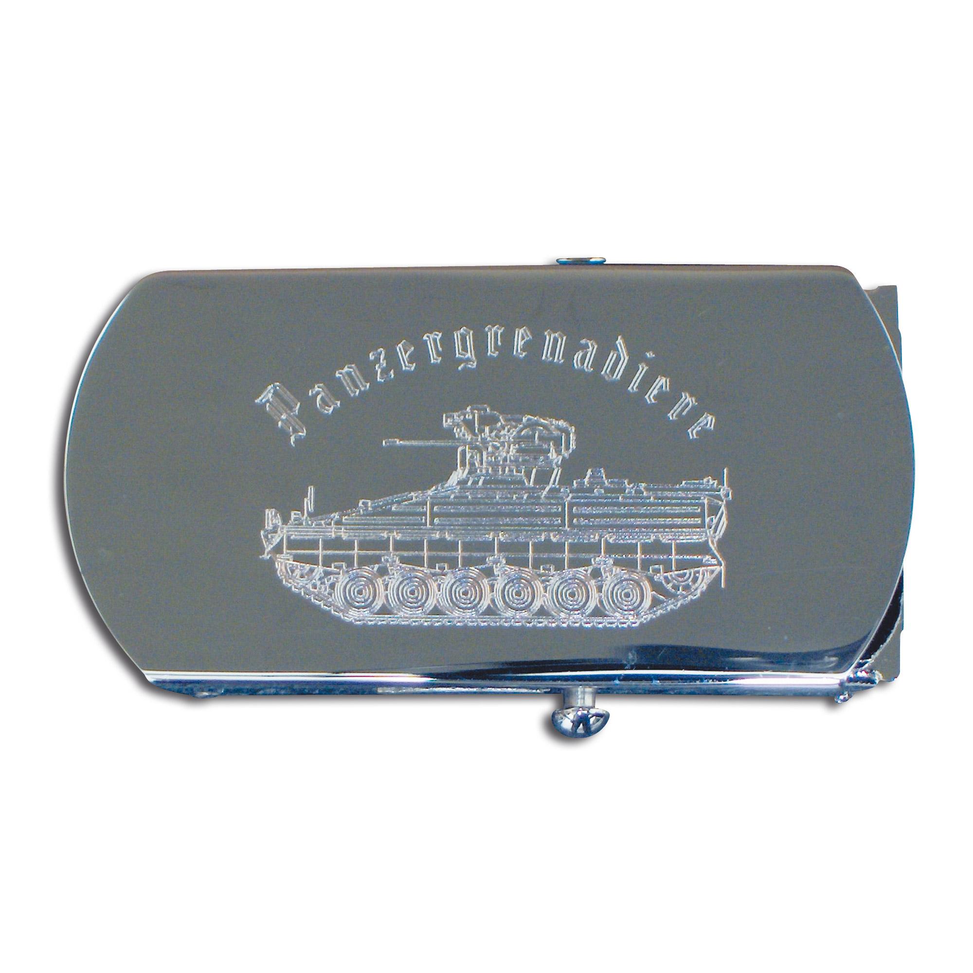 Belt with Engraved Buckle Panzergrenadier