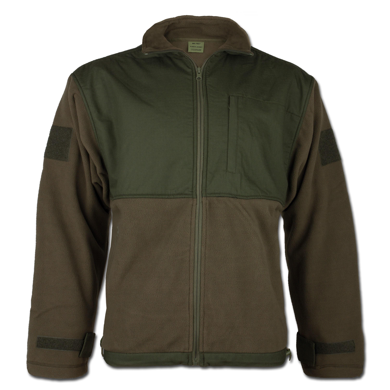 Fleece Jacket with Zipper olive