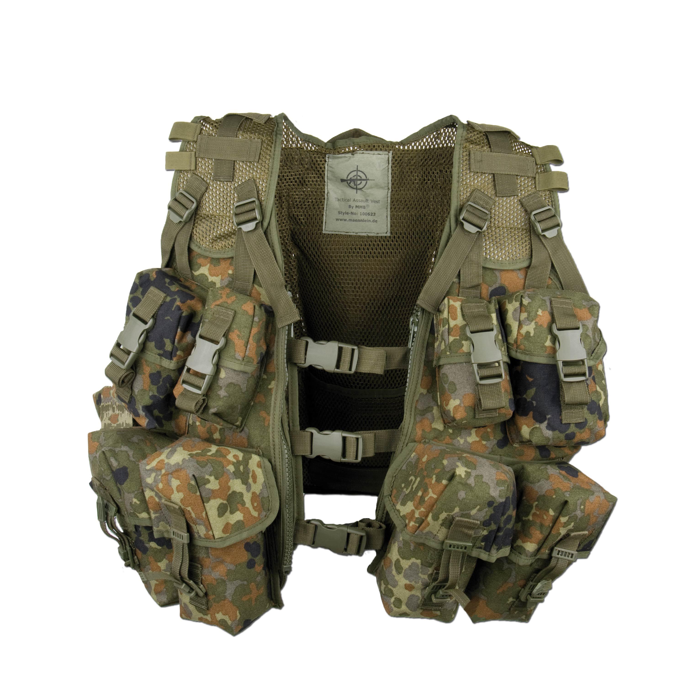 German Army Load Bearing Vest FLECKTARN CAMOUFLAGE