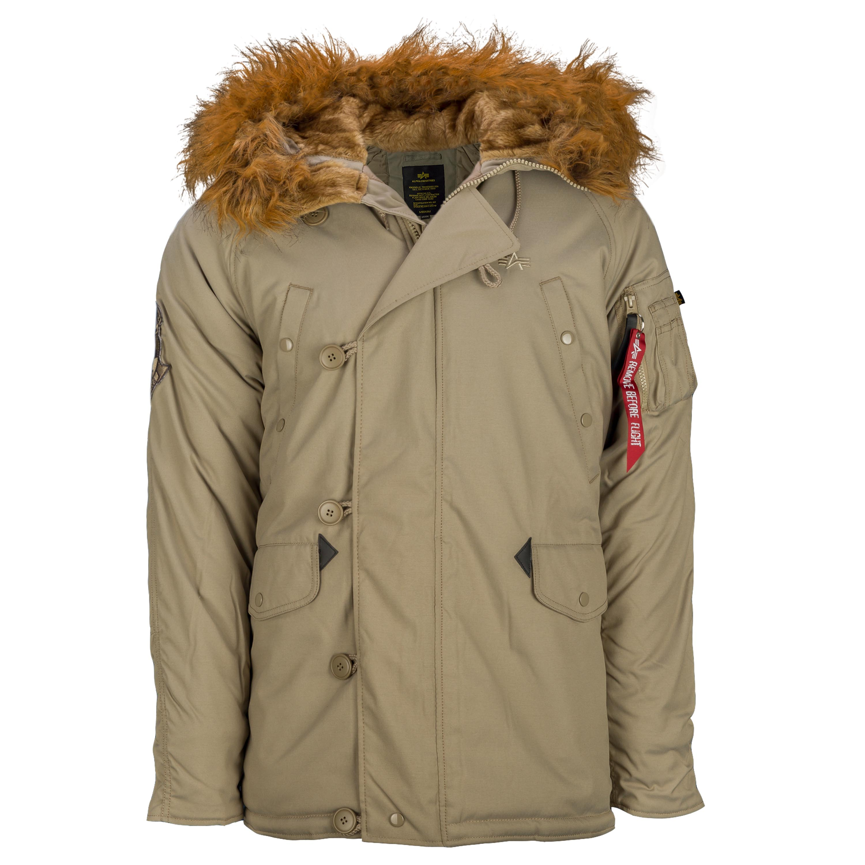 impacto Sabio Instituto  Alpha Industries Parka Explorer khaki