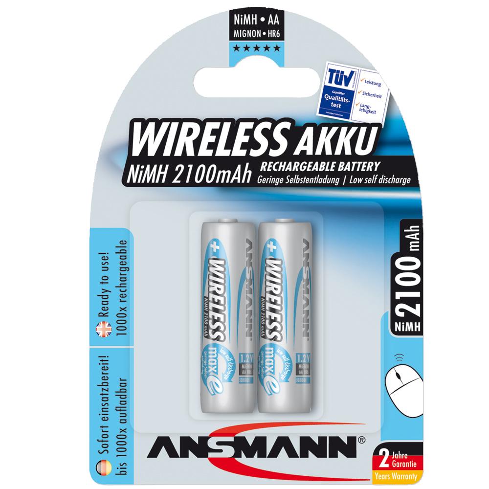 Batteries Ansmann NiMH Mignon AA Blue Line WL 2 Pack