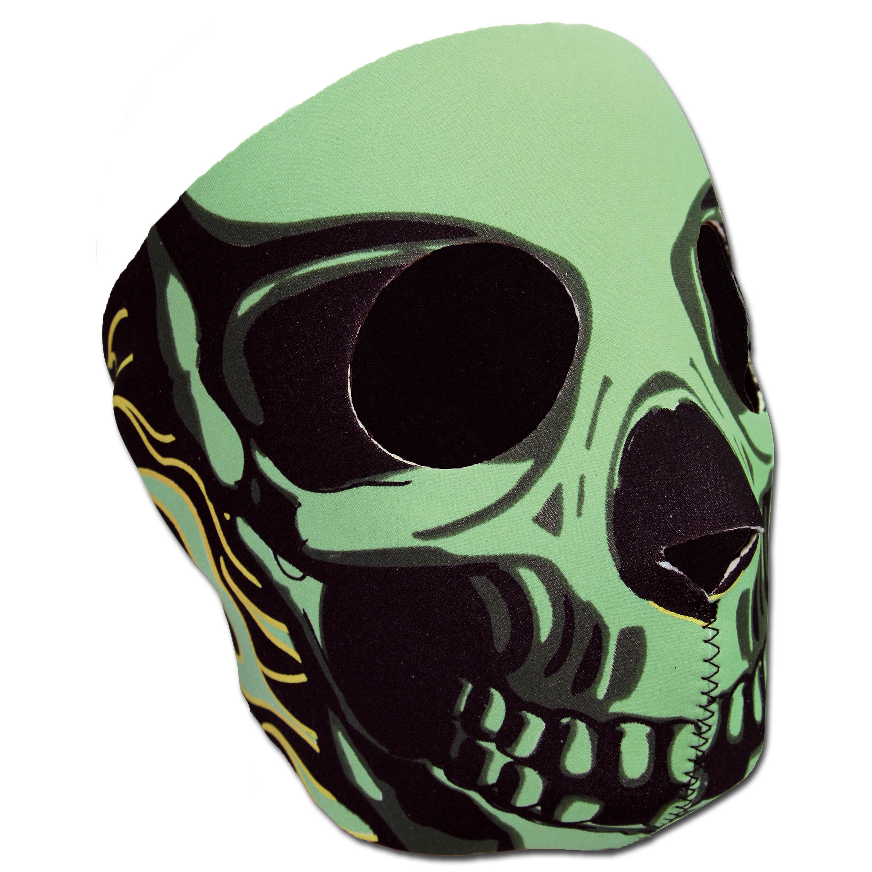 Neoprene Full Face Mask Skull green