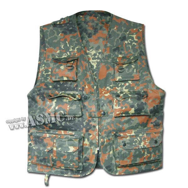 Hunting & Fishing Vest flecktarn