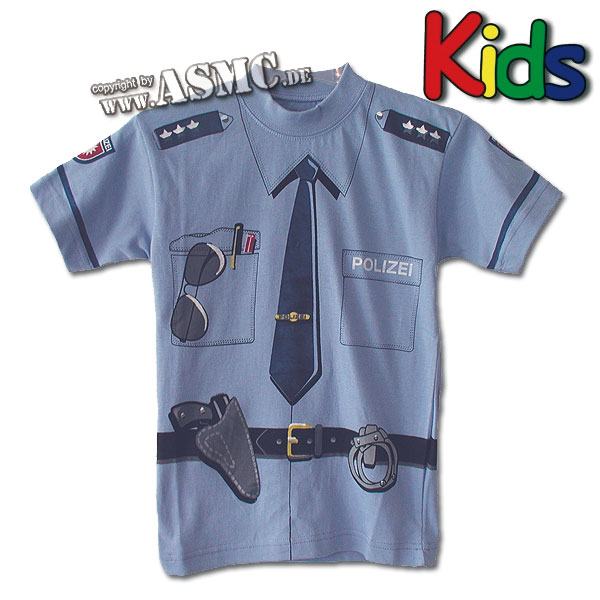 Kids T-Shirt Polizei blue