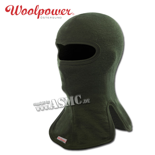 Woolpower Face Mask 400 olive