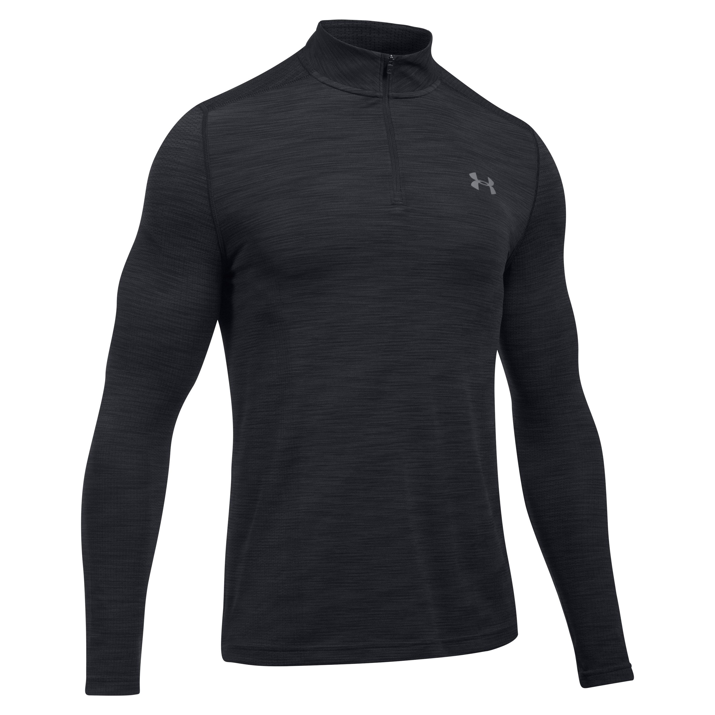Under Armour Long Arm Shirt Threadborne 1/4 Zip black
