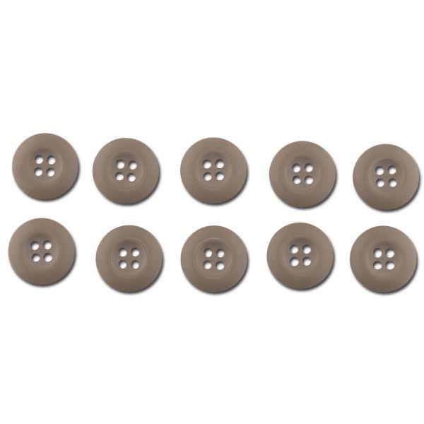 BDU buttons khaki