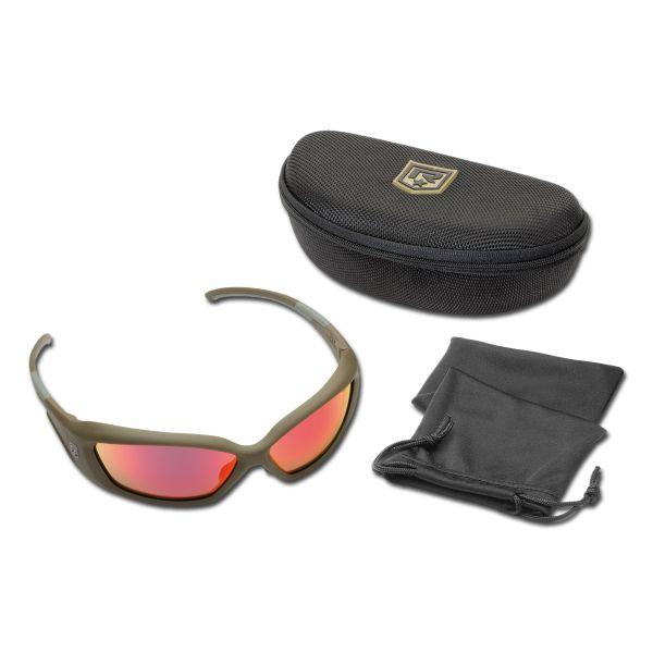 Sunglasses Revision Hellfly khaki/flame mirror