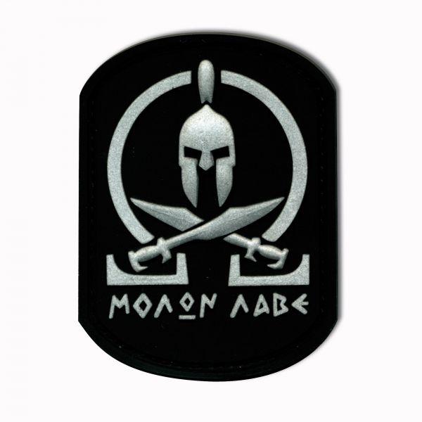 3D-Patch Molon Labe Spartan black