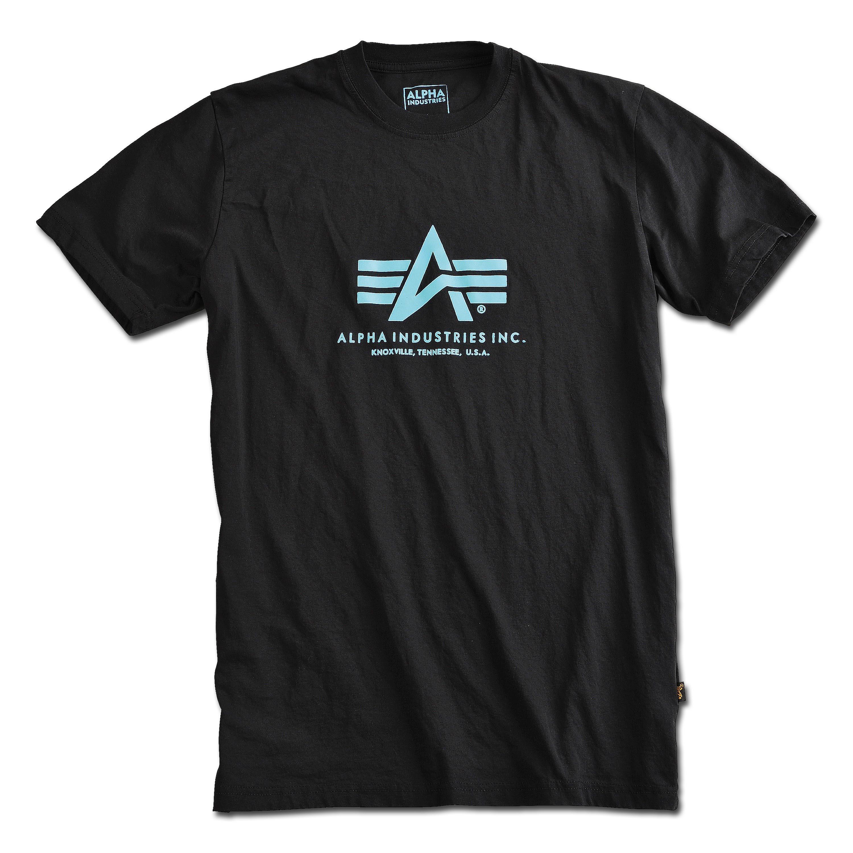 T-Shirt Alpha Industries Basic black/blue