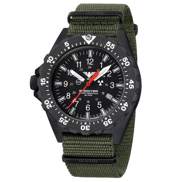 KHS Watch Shooter MKII Field Nato Band olive