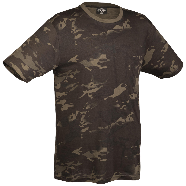 T-Shirt multitarn black