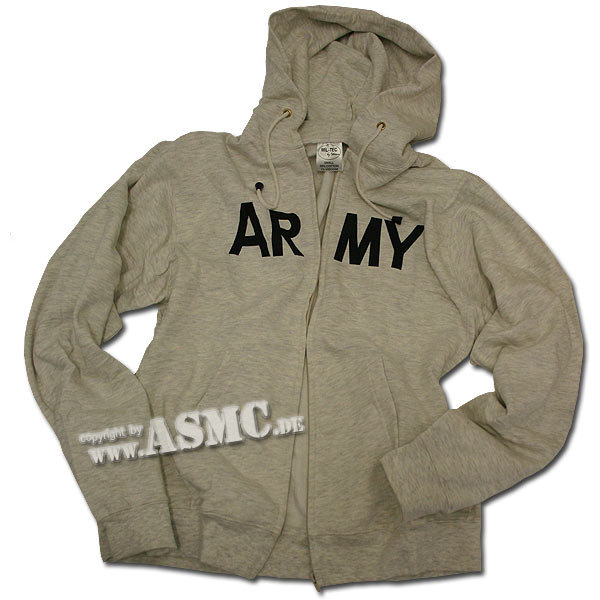 Zip-hood Sweatshirt gray Army