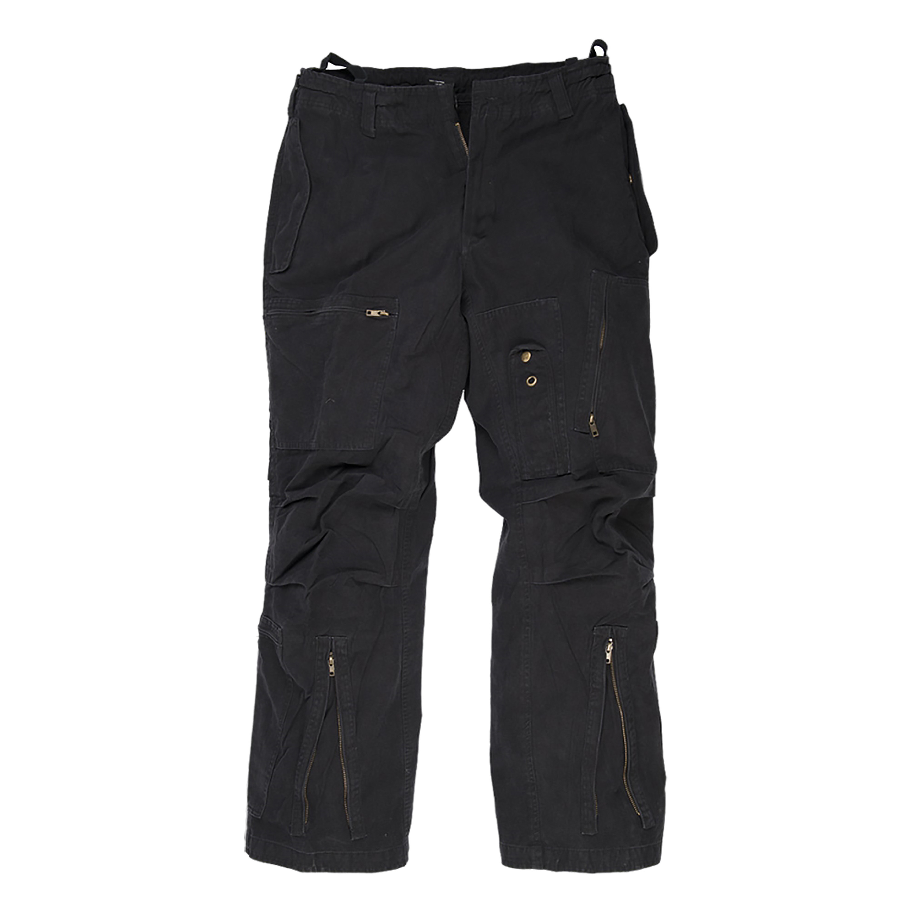 Aviator Trousers Washed black