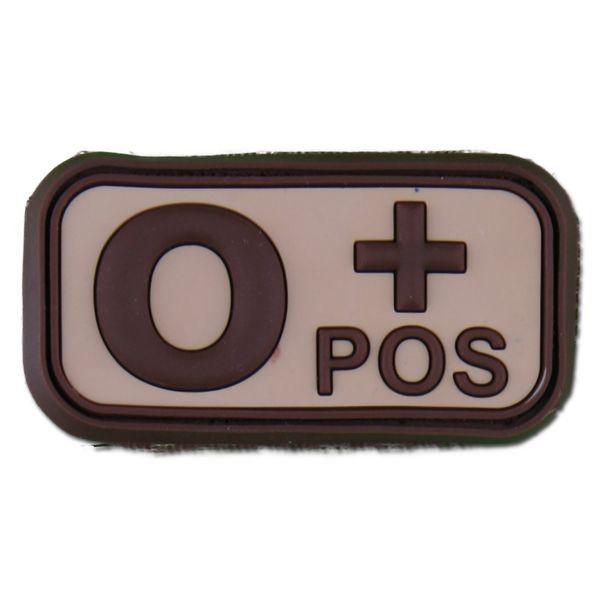 3D Blood Patch 0 Pos desert