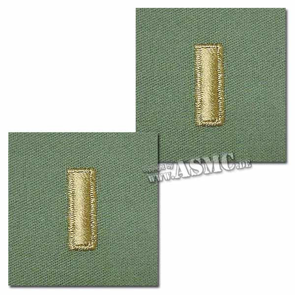 Rank Insignia U.S. Embroidered 2nd Lieutenant