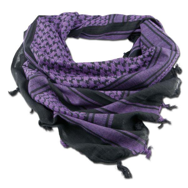 Shemag black/purple 110 x 110 cm