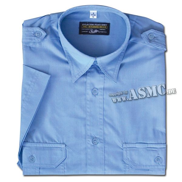 Service Shirt Short Sleeve blue