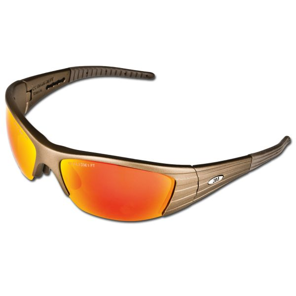 3M Safety Glasses Fuel X2 red mirrored