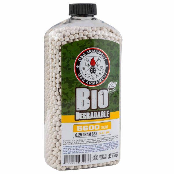 G&G Bio Airsoft BBs 6 mm 0.25 g 5600 Shot white