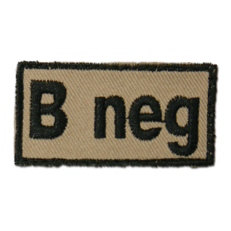 Blood Type Patch B neg khaki