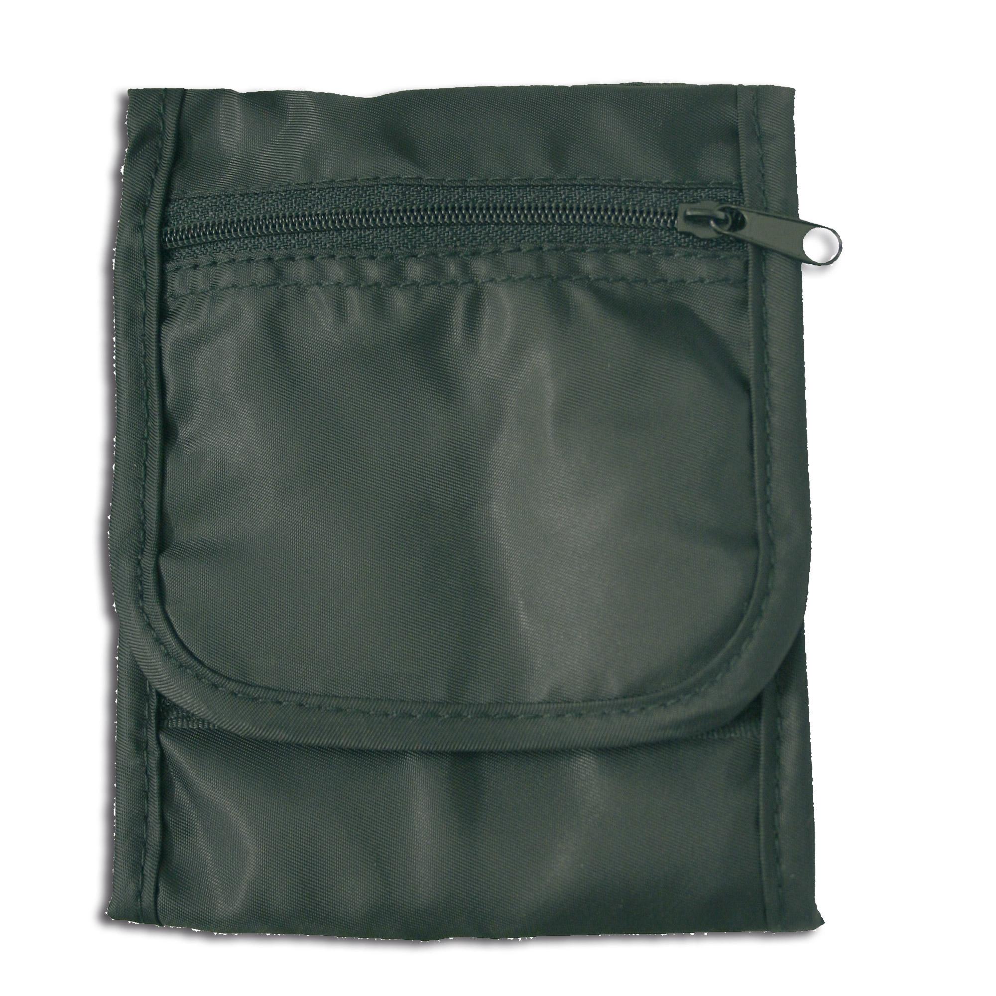 Zipper Neck Pouch black