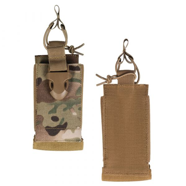 Mil-Tec Radio Pouch with Velcro Backing multitarn