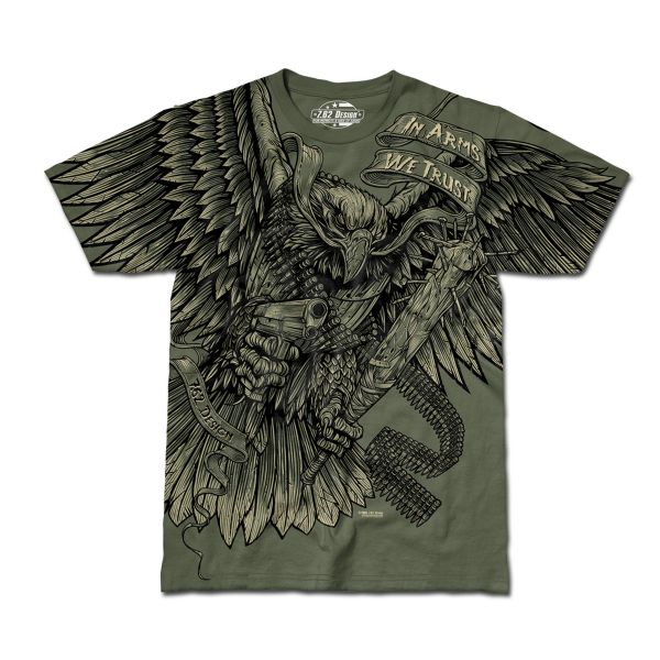 T-Shirt In Arms We Trust olive