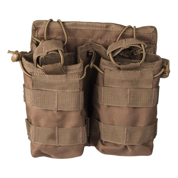 Magazine Pouch Open Top Double dark coyote