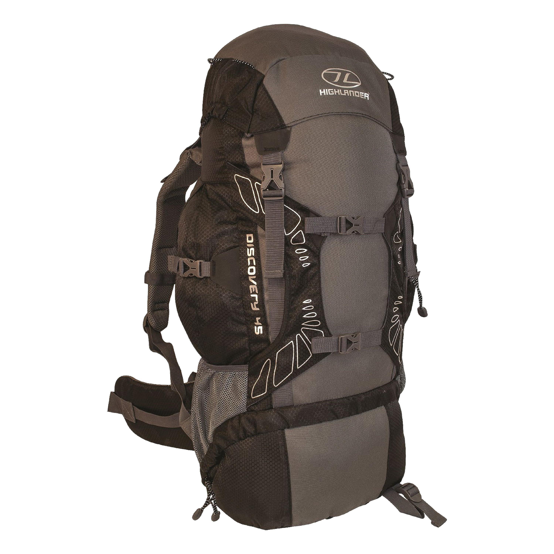 Highlander Backpack Discovery 65L black/gray